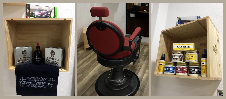 Pormenores das instalações da Barbearia do Mini